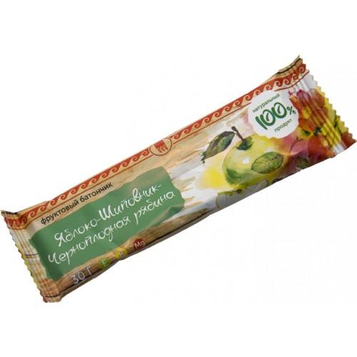 Батончик фруктовый Яблоко-шиповник-черноплодная рябина  г. Реутов