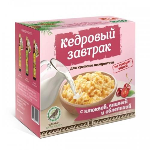 Завтрак кедровый для крепкого иммунитета с клюквой, вишней и облепихой  г. Реутов