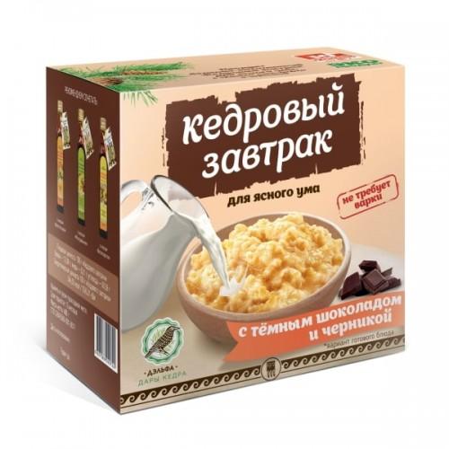 Завтрак кедровый для ясного ума с темным шоколадом и черникой  г. Реутов